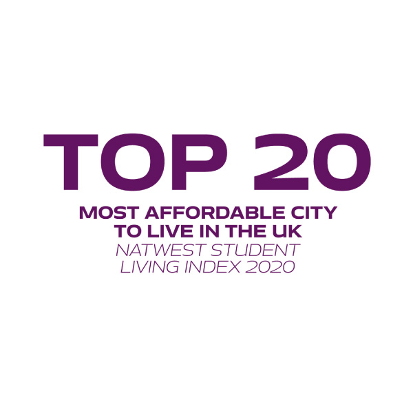 Top 20 Most affordable city to live in the UK – Natwest Student Living Index 2020