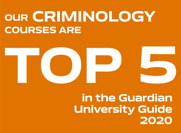 Our Criminology courses are top 5 in the Guardian University Guide 2020