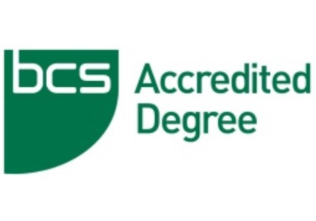 Degree accredited by BCS, The Chartered Institute for IT