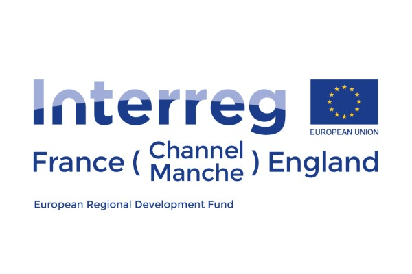 Logo of the European cross-border cooperation programme, Interreg France (Channel) England
