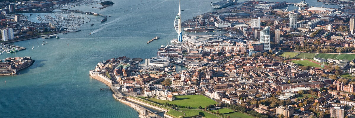 City of Portsmouth from the air