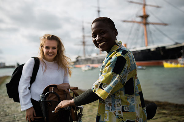 Students in the Historic Dockyard