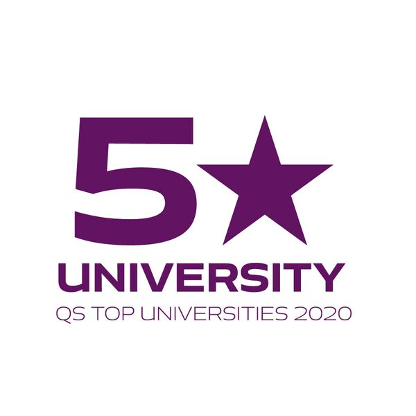 Infographic of being a 5 star University in QS Top Universities 2020