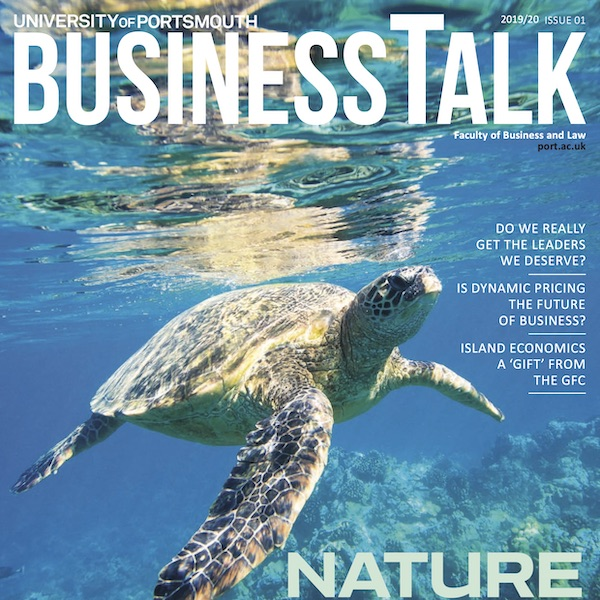 UoP Business Talk magazine front cover square