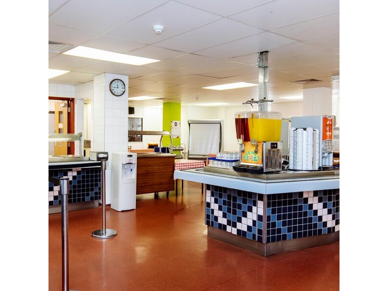 The canteen in Rees hall