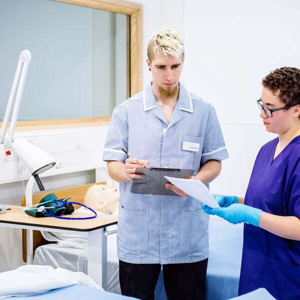 Student nurses working at University of Portsmouth