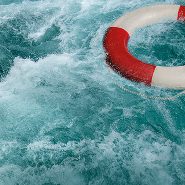 lifesaver in choppy water
