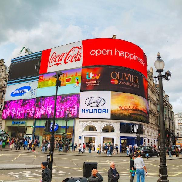 Piccadilly circus advertising boards