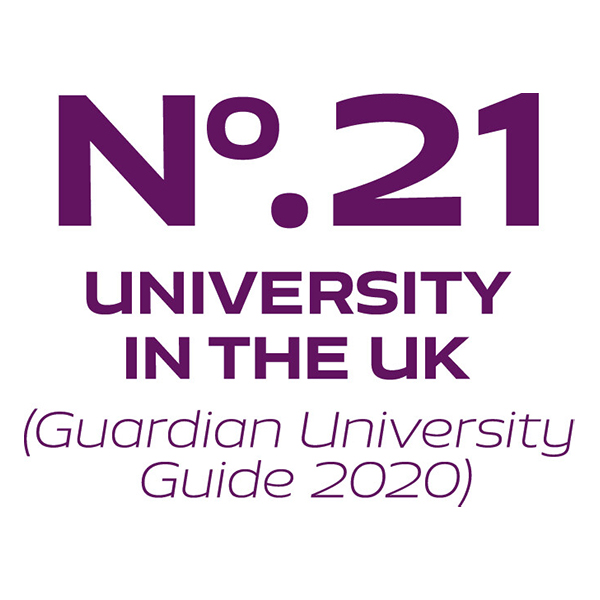 No. 21 University in the UK (Guardian University Guide 2020)