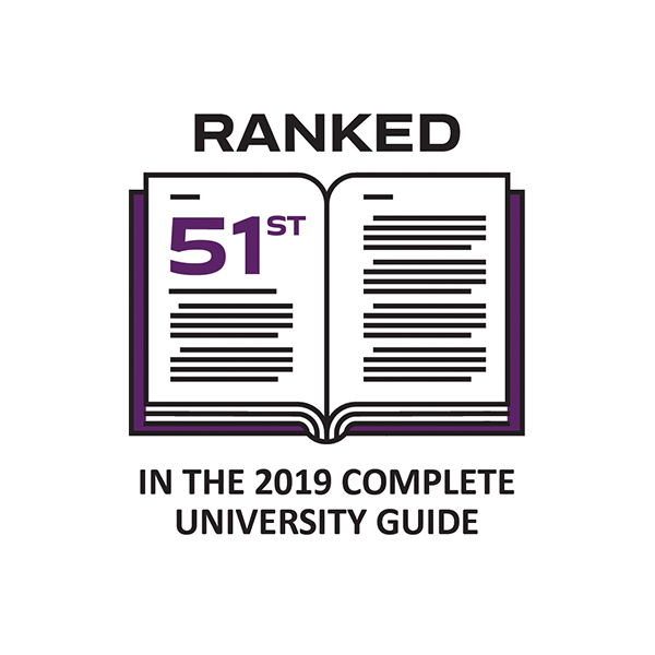 51st in Complete University Guide 2019