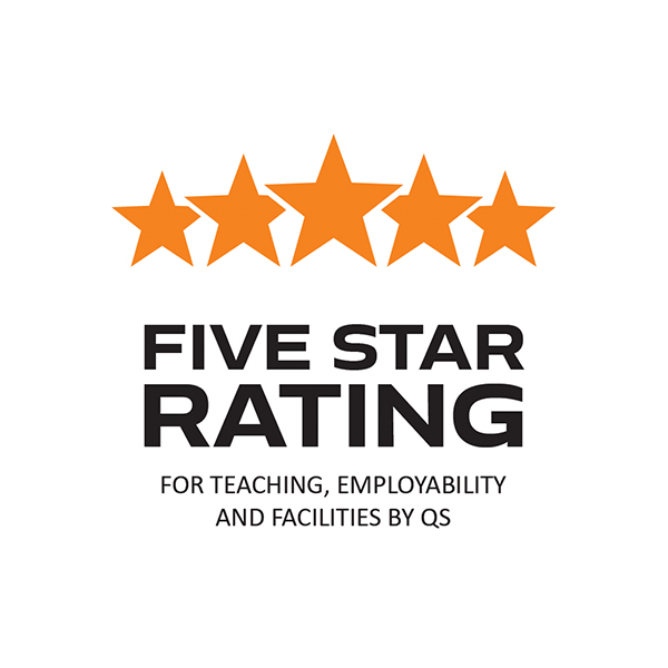 Five-star rating for teaching, employability and facilities