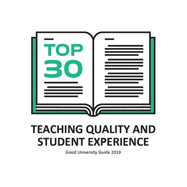 Top thirty for teaching quality and student experience