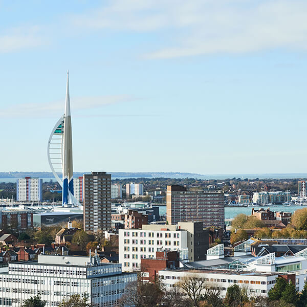 Cityscape of Portsmouth