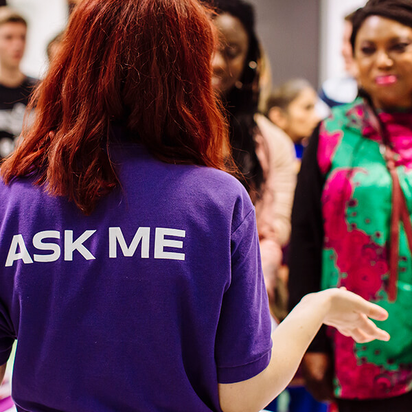 University of Portsmouth student ambassador at Open Day