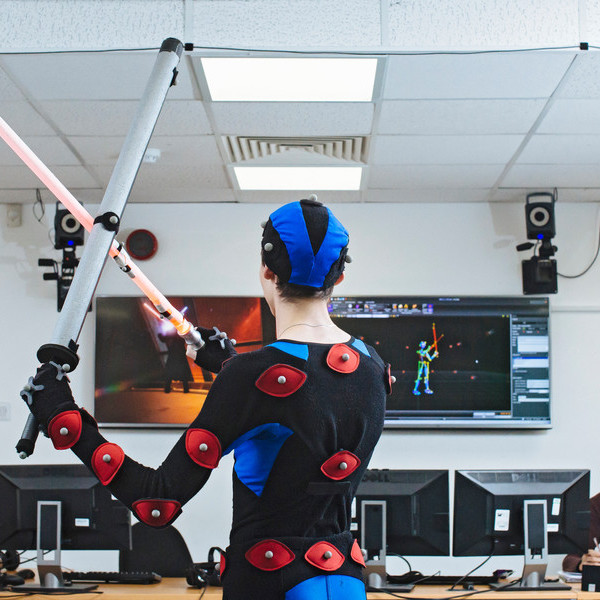 Research in the motion capture studio