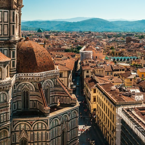 Florence city from the air