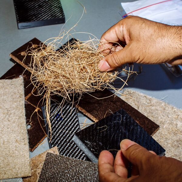 Flax used as alternative manufacturing material