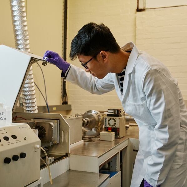 Student in Mass Spectrometry Lab