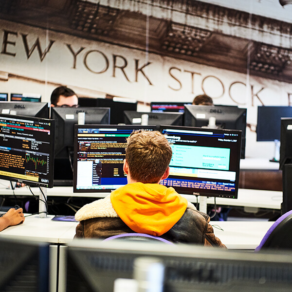 students in the bloomberg suite