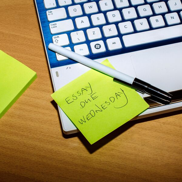 Post it note with writing