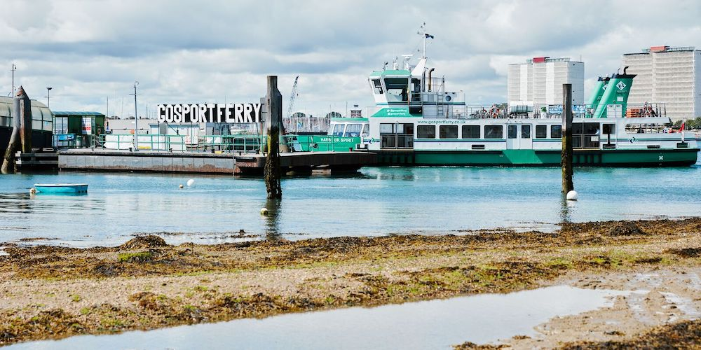 Gosport Ferry in the harbour