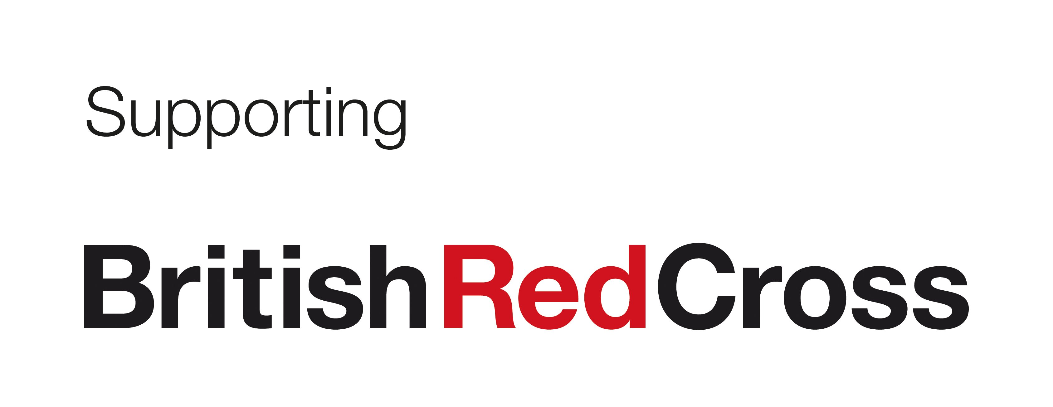 Supporting British Red Cross logo