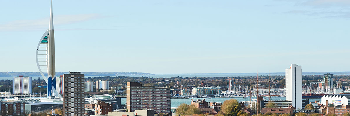 panoramic view of portsmouth