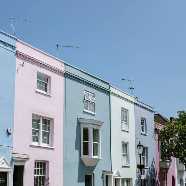 Row of houses in Portsmouth