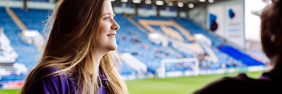 Sport and Exercise Psychology student in Portsmouth FC grounds