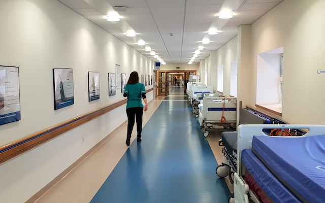 Interior of NHS hospital