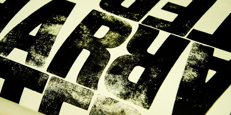 Close-up of typography from student Molly Anderson