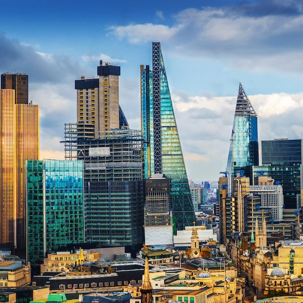 City of London skyline, banking district