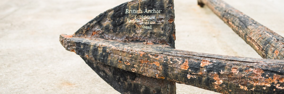 Anchor, circa 1800, Southsea beach