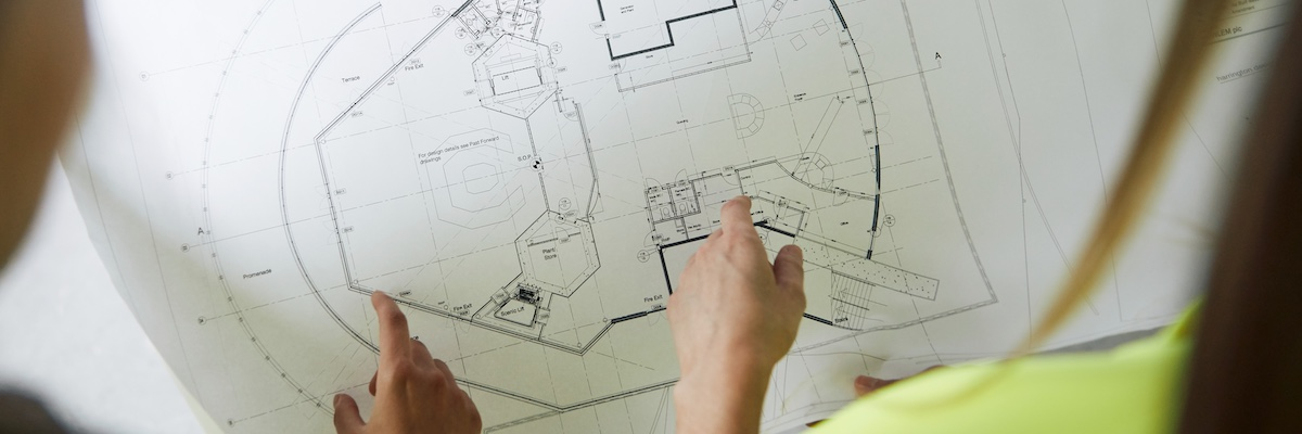 Civil engineering drawings, close-up