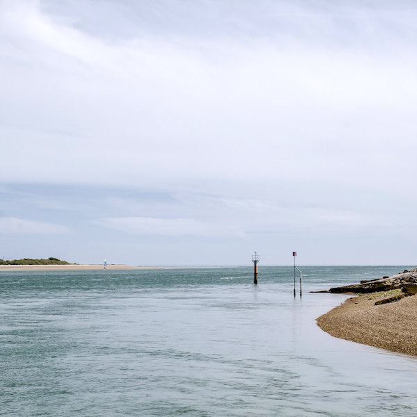 langstone harbour with tide in