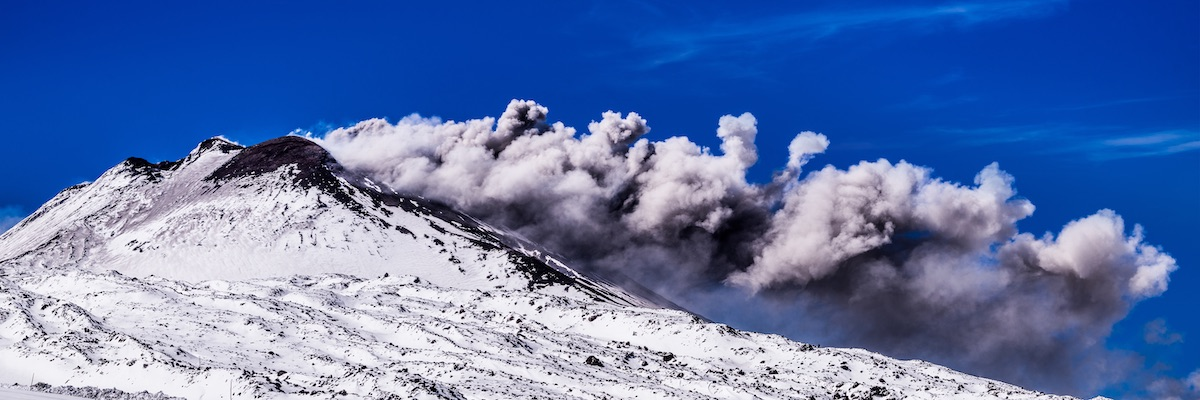 volcanic eruption at Mount Etna