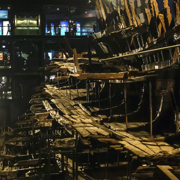Mary Rose wreckage at the Mary Rose Museum, Portsmouth