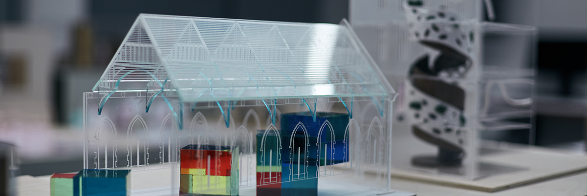 architectural model of church