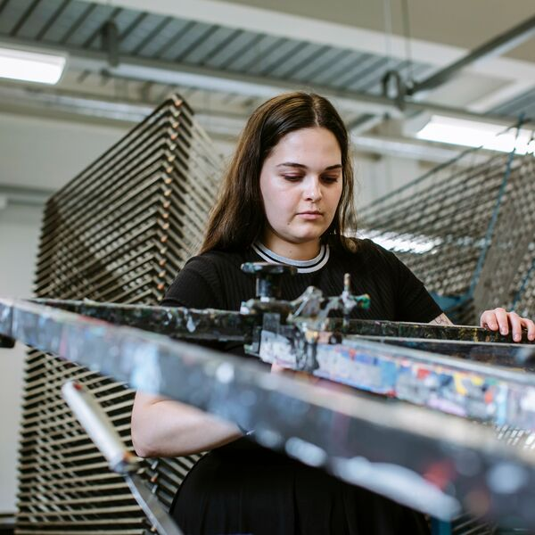 Female University of Portsmouth PhD student using CCI facilities
