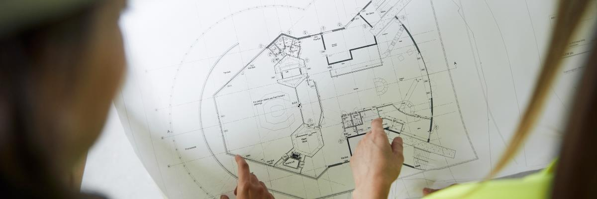 Architecture and surveying design on paper
