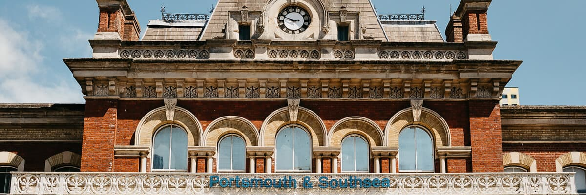 Portsmouth and Southsea train station exterior