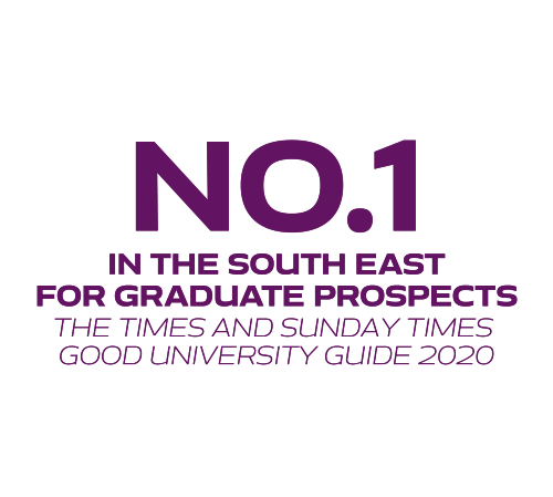 No.1 in the south east for graduate prospects The Times and Sunday Times Good University guide 2020