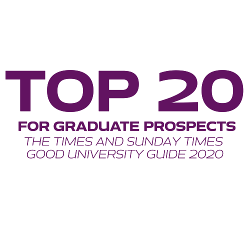 Top 20 for graduate prospects The Times and Sunday Times good university guide 2020