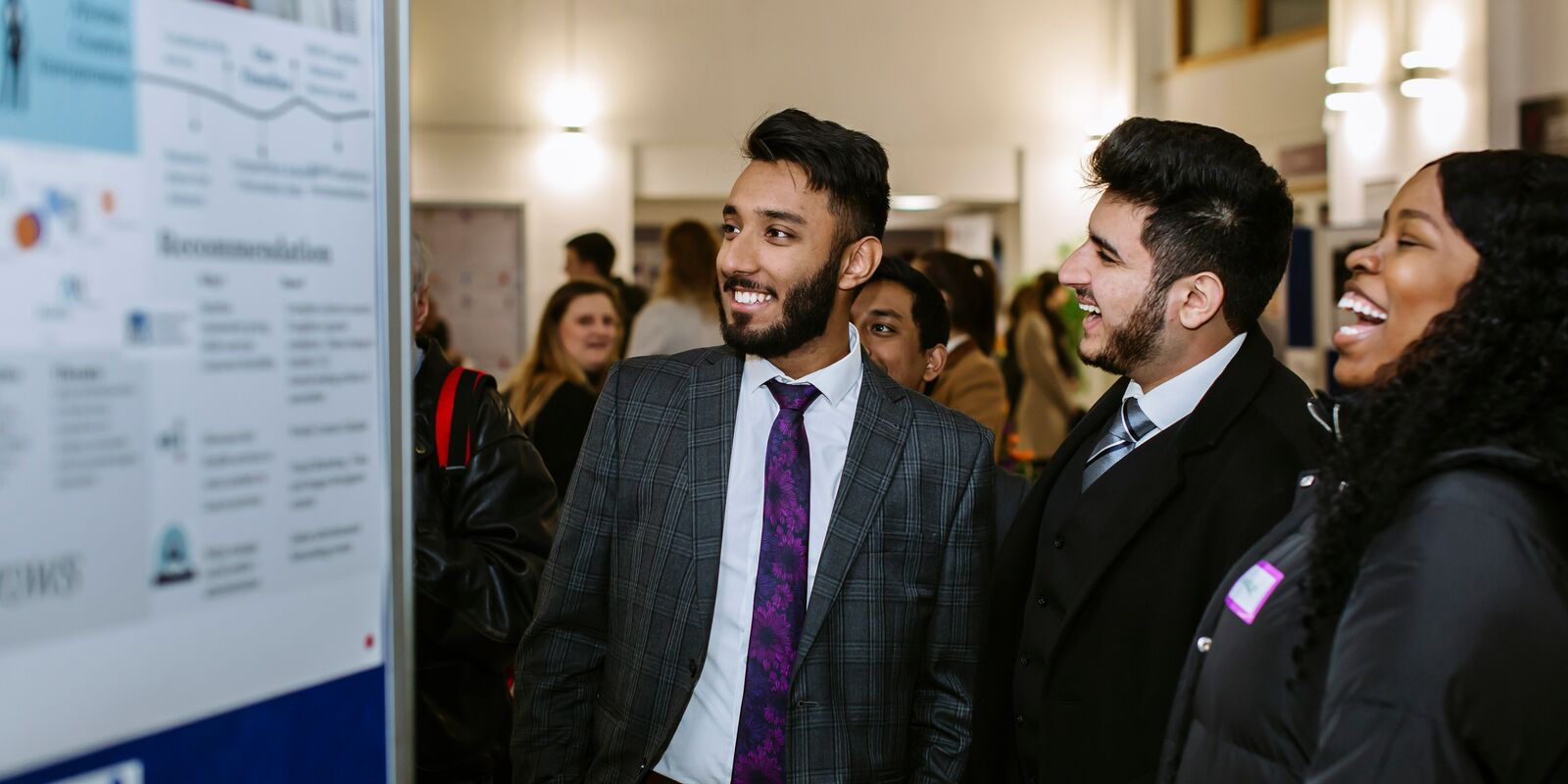 Male and female University of Portsmouth students in Faculty of Business and Law