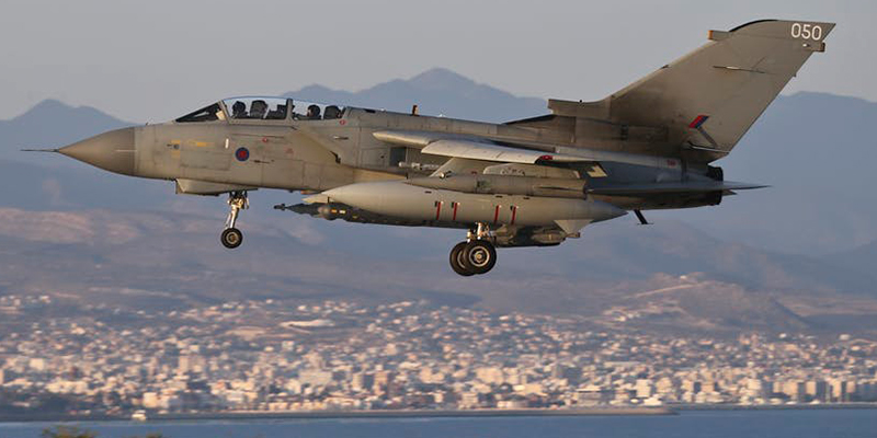 RAF Tornado GR4 bomber in flight