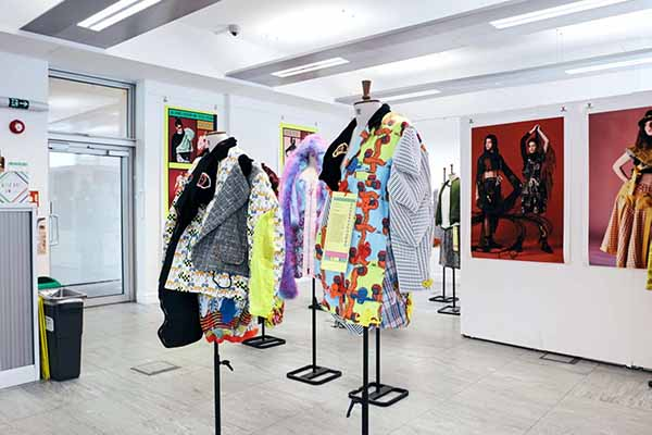 Fashion and textile projects displayed at the 2019 CCI grad show