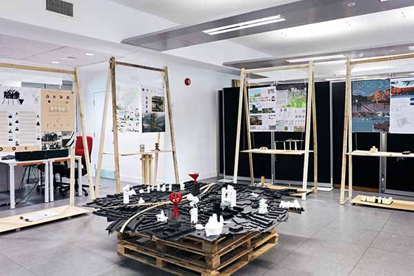 Architecture and design projects displayed at the 2019 CCI grad show