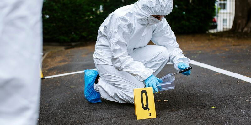 Person doing forensic study