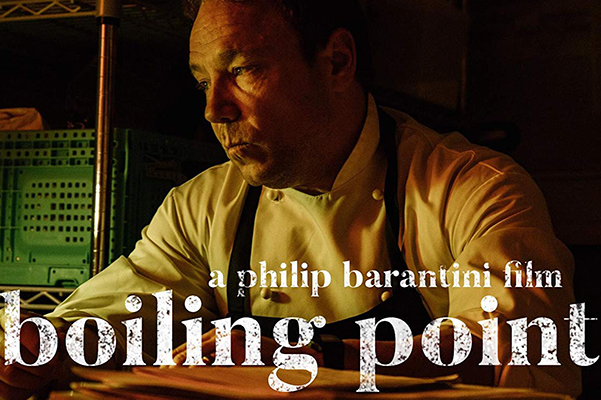 Lead actor for the Boiling Point film, Stephen Graham, looks off camera with the words