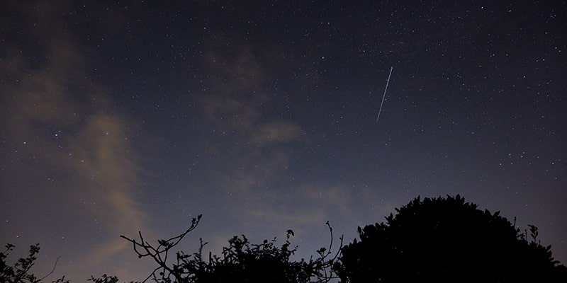 Lyrid Meteor Shower over Portsmouth via Shutterstock